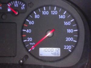 Bild vom Kilometerzähler nach Überschreitung der 100.000km marke